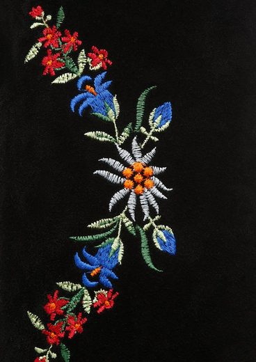 Leder Kabe accessoires Mit Blumenstickerei Trachtentasche O61wqAZ