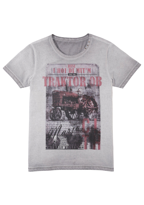 MarJo Trachtenshirt mit Aufdruck und Schriftzug