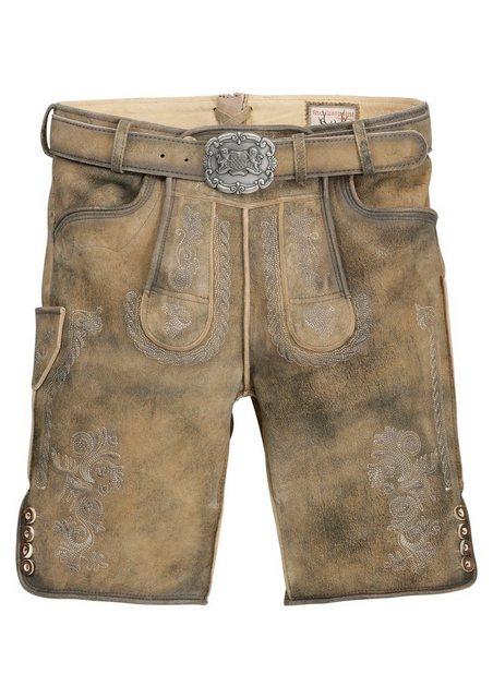 Stockerpoint Trachtenlederhose kurz Herren mit Grürtel | Bekleidung > Hosen > Lederhosen | Braun | Stockerpoint