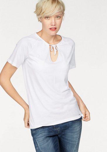 Cotton Candy V-Shirt »Gail« mit Rückenprint