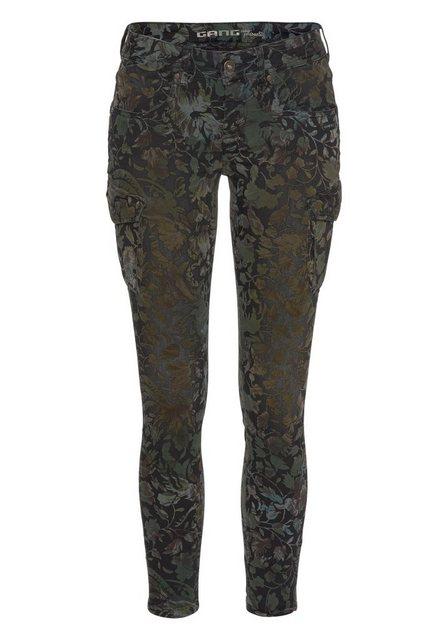 Hosen - GANG Cargohose »Faye« im floralen Design ›  - Onlineshop OTTO