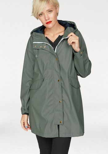 Damen Tom Tailor Denim Regenjacke mit wind- & wasserabweisendem Obermaterial grün | 04060868222682