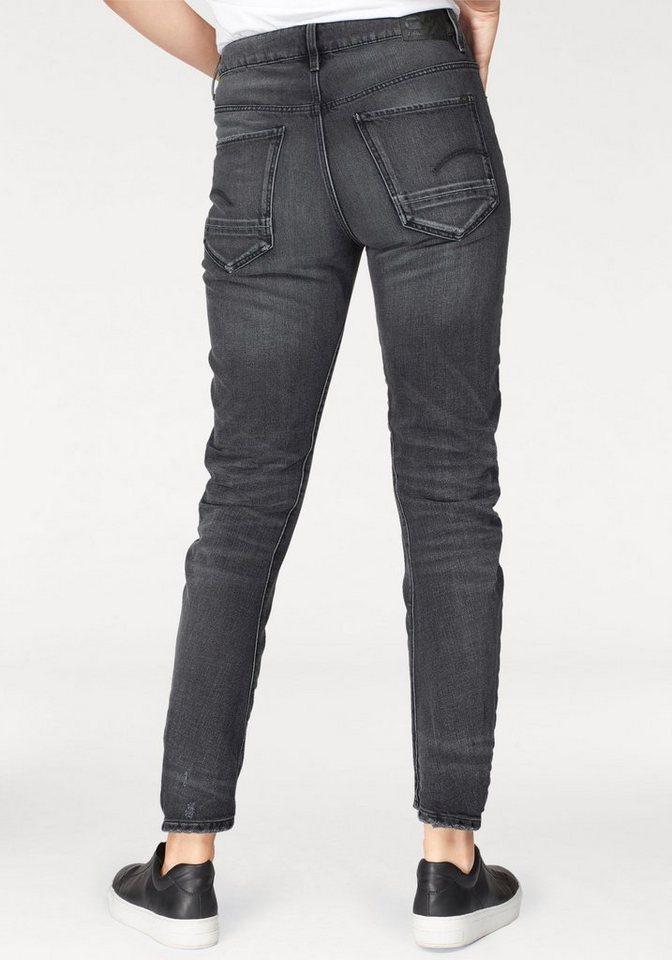 G-Star RAW Boyfriend-Jeans »Arc 2.0 3D Mid Boyfriend« mit Destroyed-Effekten | Bekleidung > Jeans > Boyfriend-Jeans | Schwarz | Denim | G-Star RAW