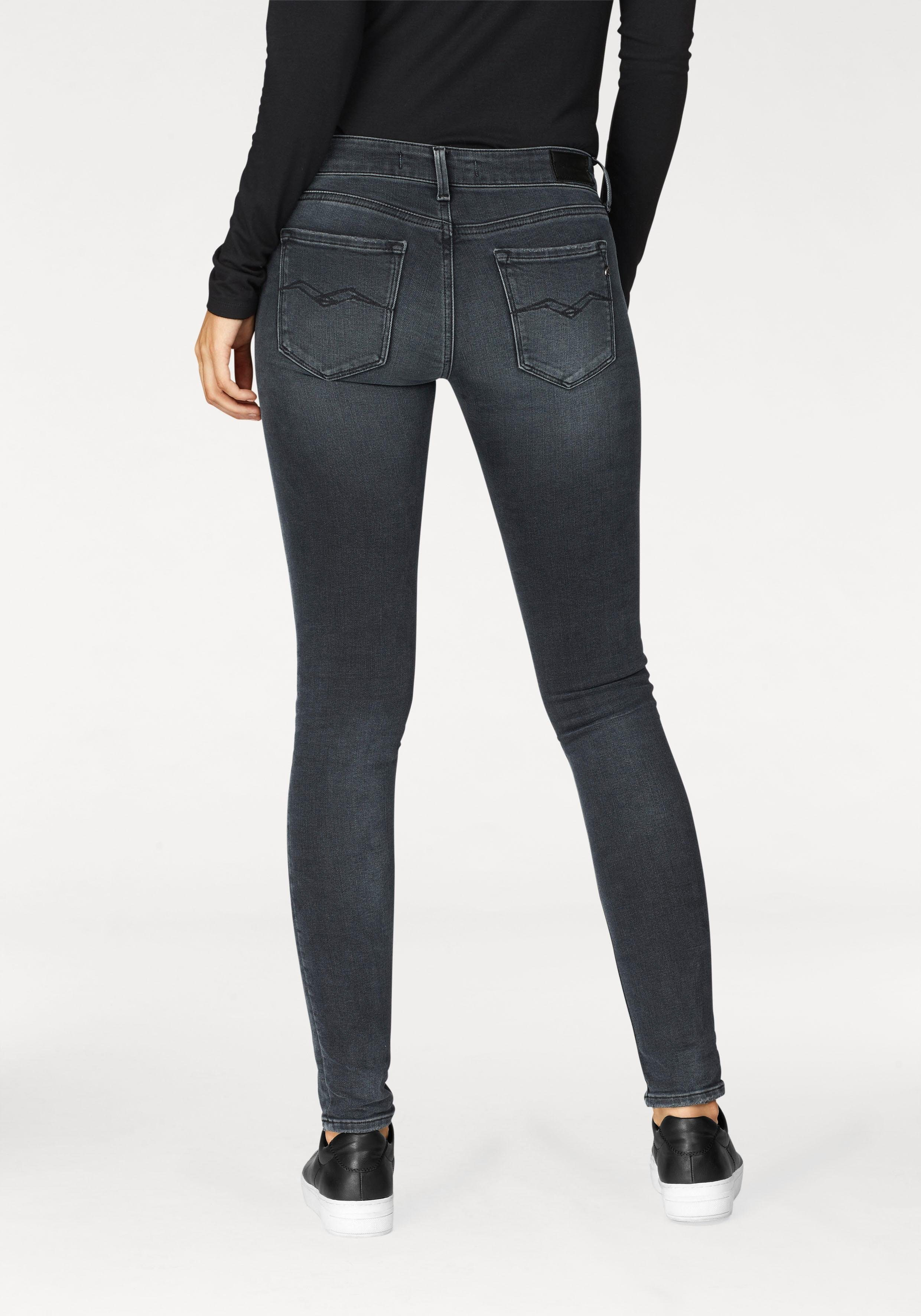 Replay Skinny-fit-Jeans »LUZ« mit besonderer Blue-Black-Waschung