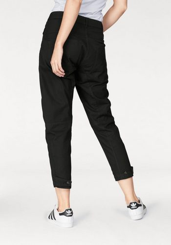 Damen G-Star RAW 5-Pocket-Hose Army Radar mit Knieabnähern schwarz | 08719369870910