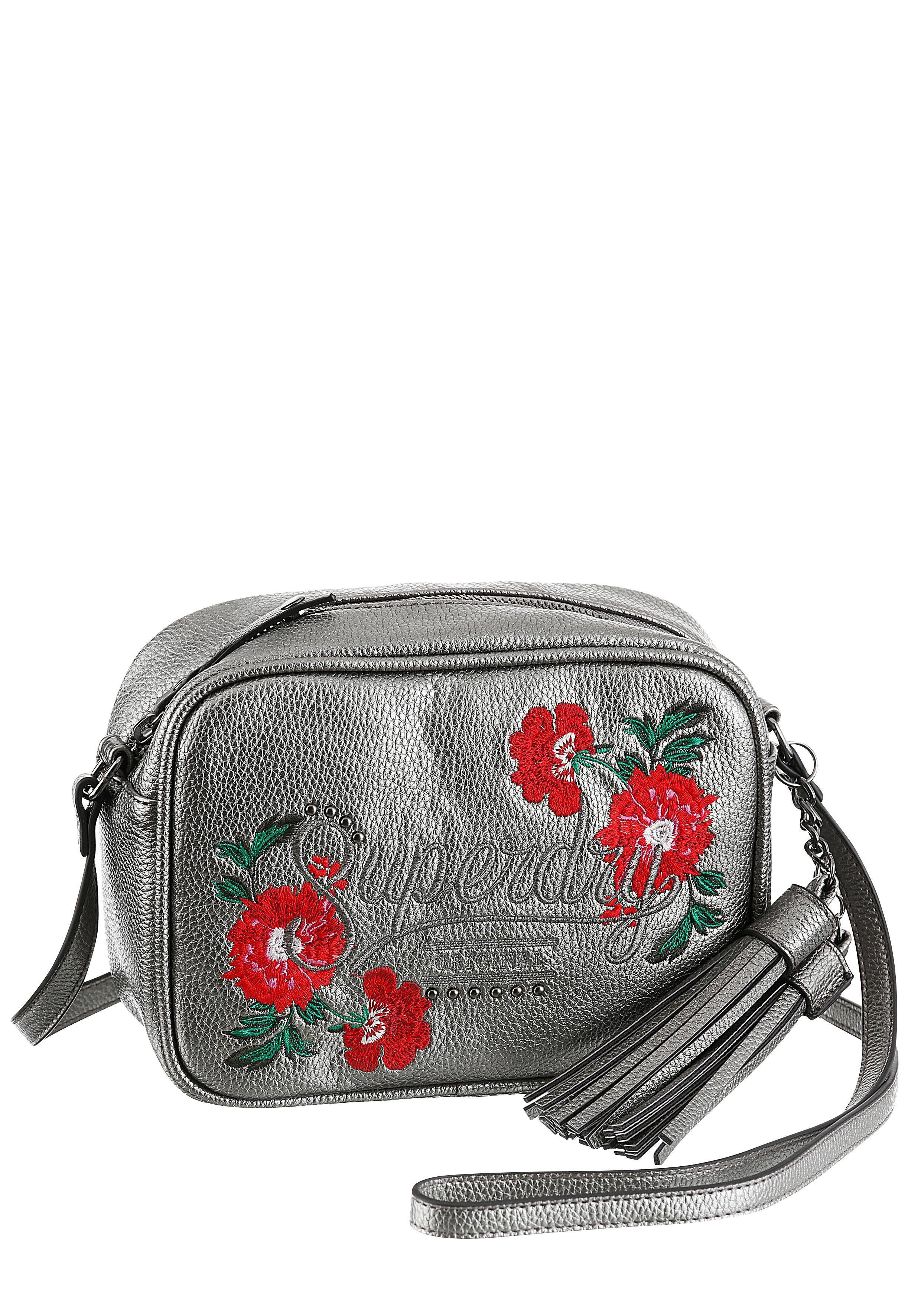 Superdry Umhängetasche »DELWEN«, mit angesagter Blumen Stickerrei