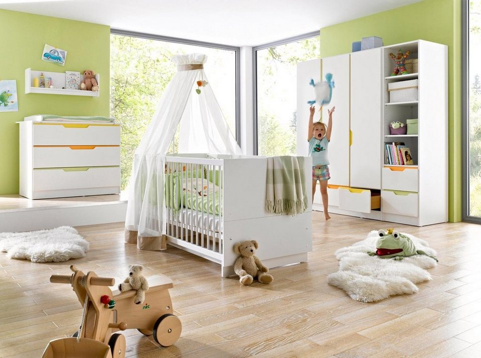 geuther babyzimmer set 3 tlg kinderzimmer fresh bunt