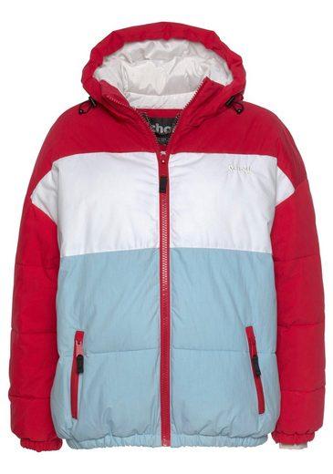 weiß hellblau Rot Nyc Schott Colorblocking Mit Steppjacke »alaska« F31JcTlK