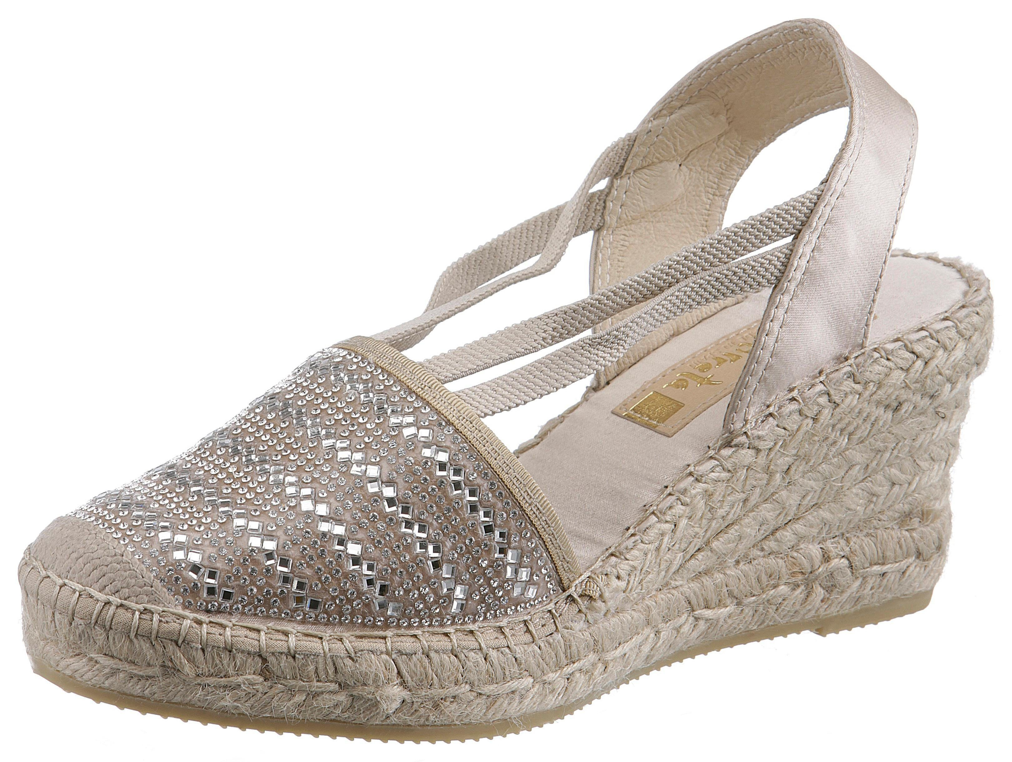 Vidorreta Sandalette, im trendigen Metallic-Look  beige-silberfarben