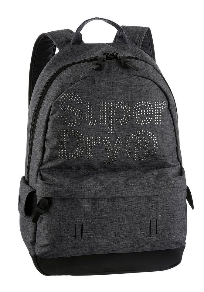 superdry cityrucksack mit funkelnden glitzersteine online. Black Bedroom Furniture Sets. Home Design Ideas