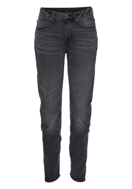 Damen G-Star RAW Boyfriend-Jeans Arc 2.0 3D Mid Boyfriend mit Destroyed-Effekten schwarz | 08719369792786