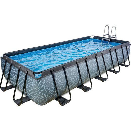 EXIT Frame Pool 5,4x2,5x1m, grau
