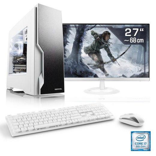 """CSL Gaming PC Set, Core i7-8700, GTX 1060, 16 GB DDR4, 27"""" TFT »HydroX T9850 Wasserkühlung«"""