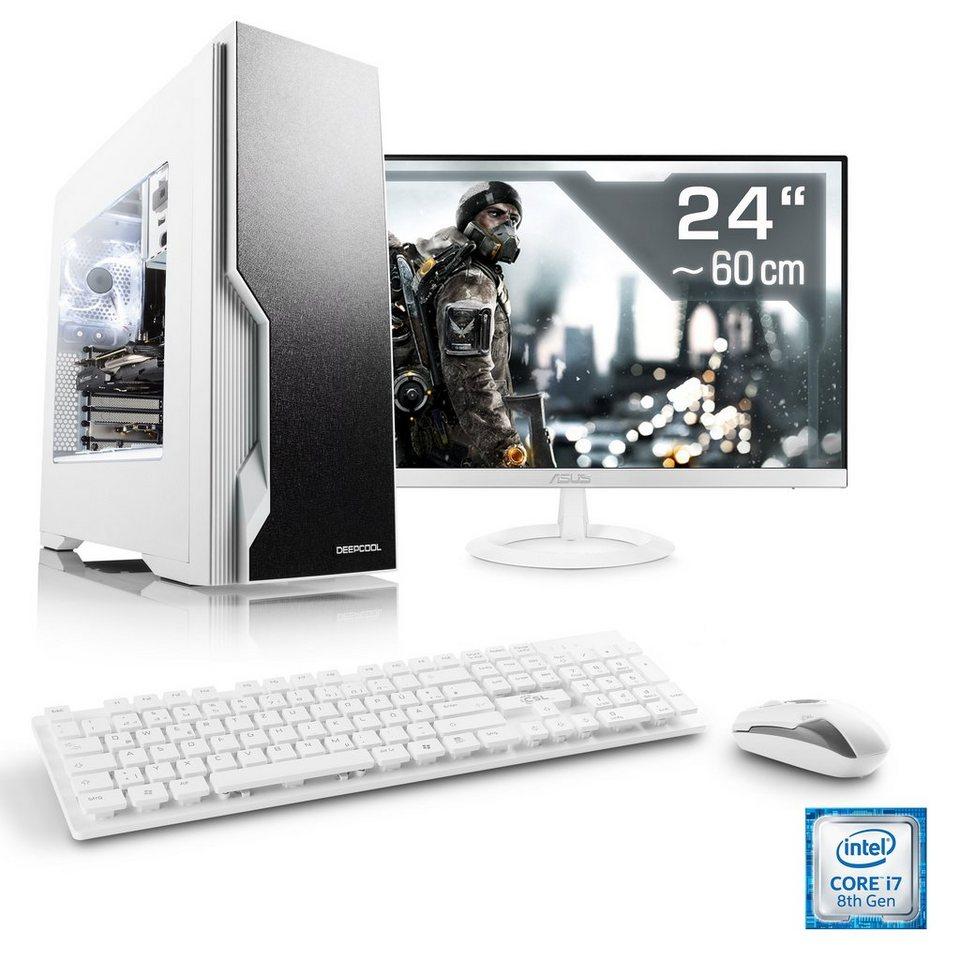 CSL Gaming PC Set | Core i7-8700 | GTX 1060 | 16 GB DDR4 | 24