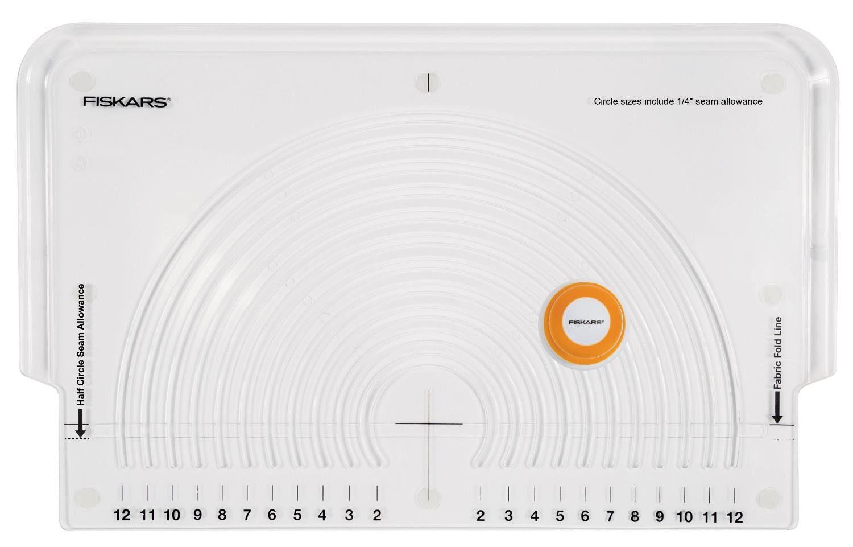 Fiskars Kreisschneider für Stoff Kreisgröße ca. 5,1 - 30,5 cm