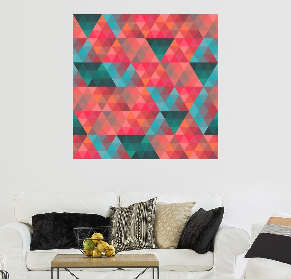 Posterlounge Wandbild »Dreieckiges Muster« | Dekoration > Bilder und Rahmen > Bilder | Holz | Posterlounge