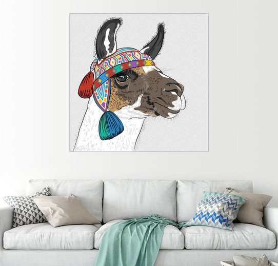 Posterlounge Wandbild - Kidz Collection »Lama«