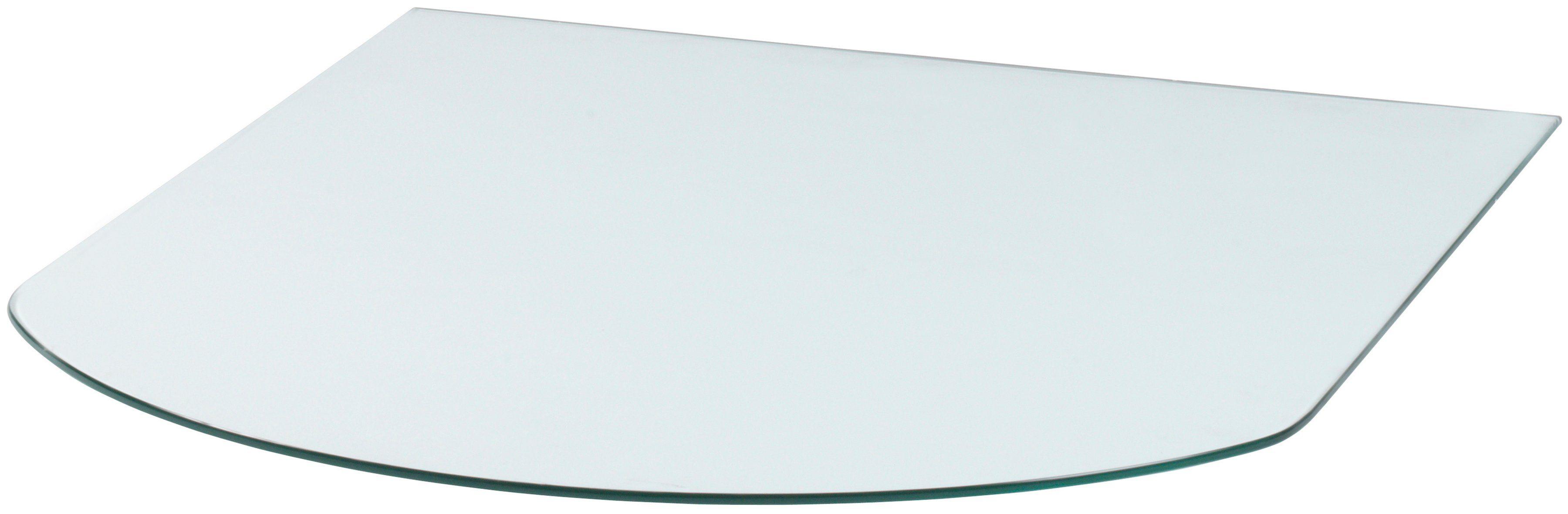Glasbodenplatte »Halbrundbogen«, für Kaminöfen, 85 x 110 cm, transparent