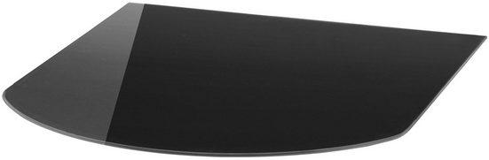 Glasbodenplatte »Halbrundbogen«, für Kaminöfen, 85 x 100 cm, schwarz