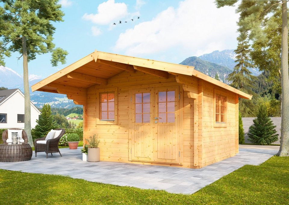 wolff gartenhaus nordkap 70 c bxt 450x530 cm inkl fu boden online kaufen otto. Black Bedroom Furniture Sets. Home Design Ideas