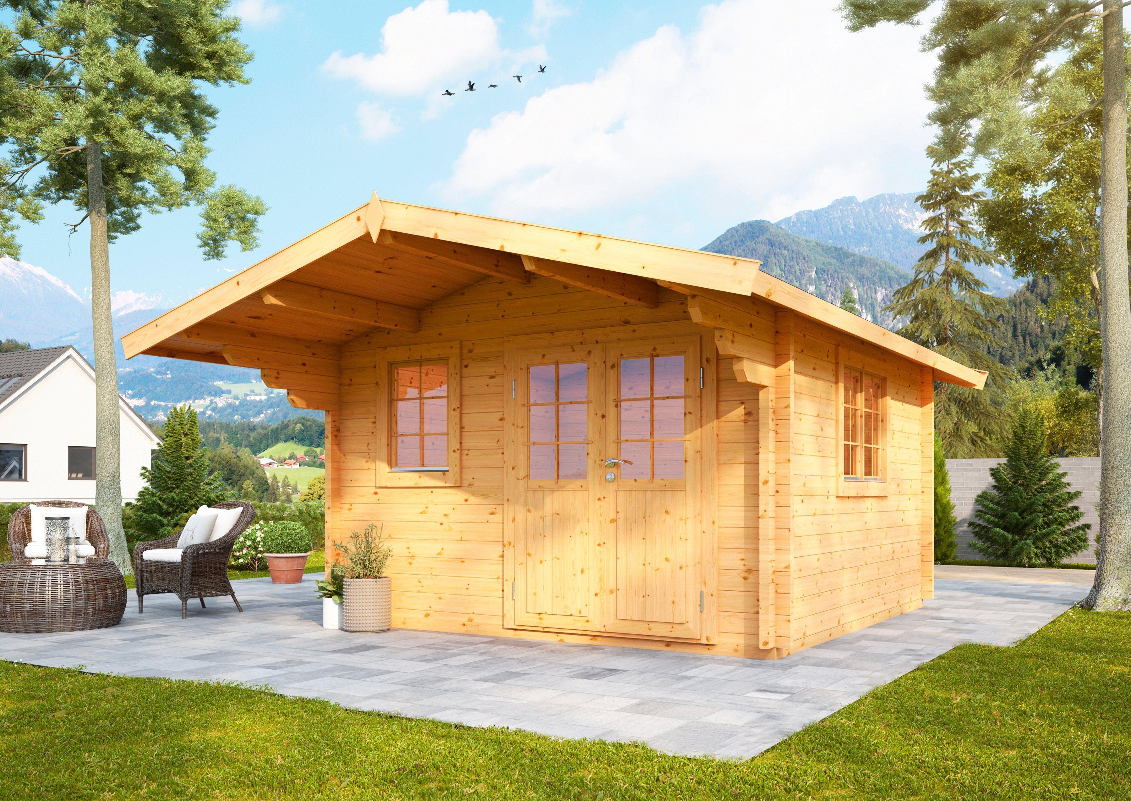 WOLFF FINNHAUS Gartenhaus »Nordkap 70-C«, BxT: 450x530 cm, inkl. Fußboden