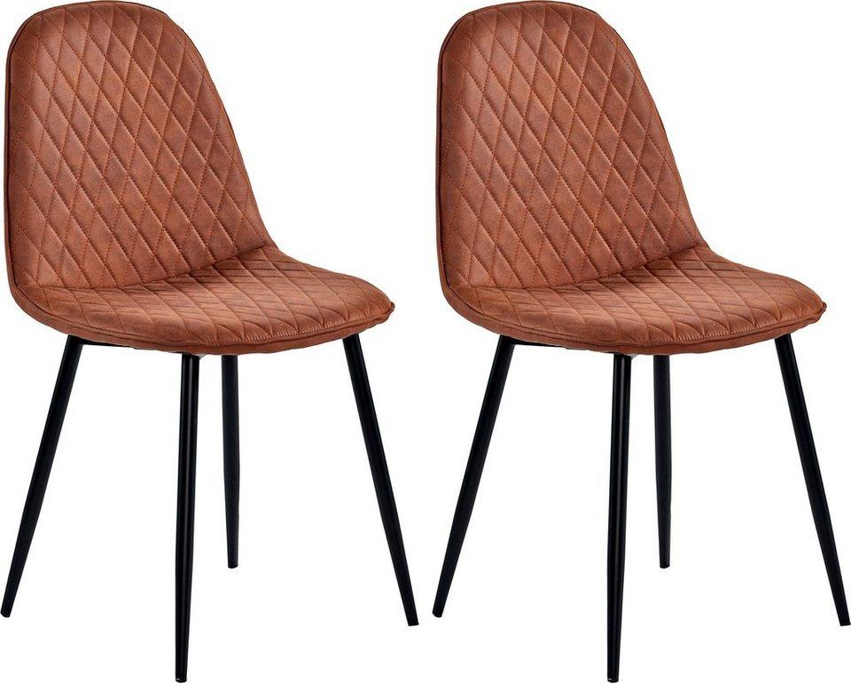 home affaire stuhl haiti im 2er set bezug mit attraktiver rautensteppung online kaufen otto. Black Bedroom Furniture Sets. Home Design Ideas