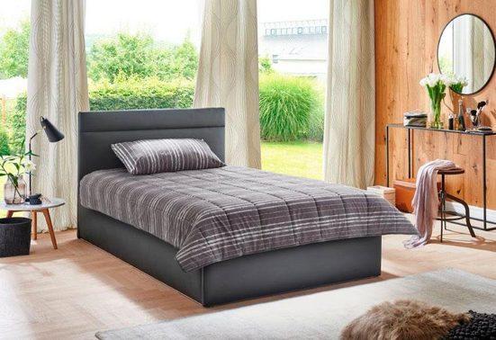 Westfalia Schlafkomfort Polsterbett, in 2 Liegehöhen, wahlweise mit Bettkasten