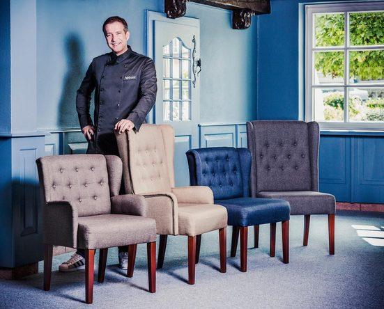 Alexander Herrmann 4-Fußstuhl »GOURMET« mit Zierknöpfen im Rücken