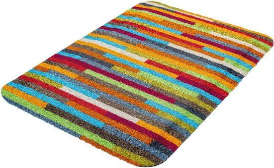 Teppich »Mikado Stripes«, wash+dry by Kleen-Tex, rechteckig, Höhe 19 mm, Anti-Ermüdungsmatte
