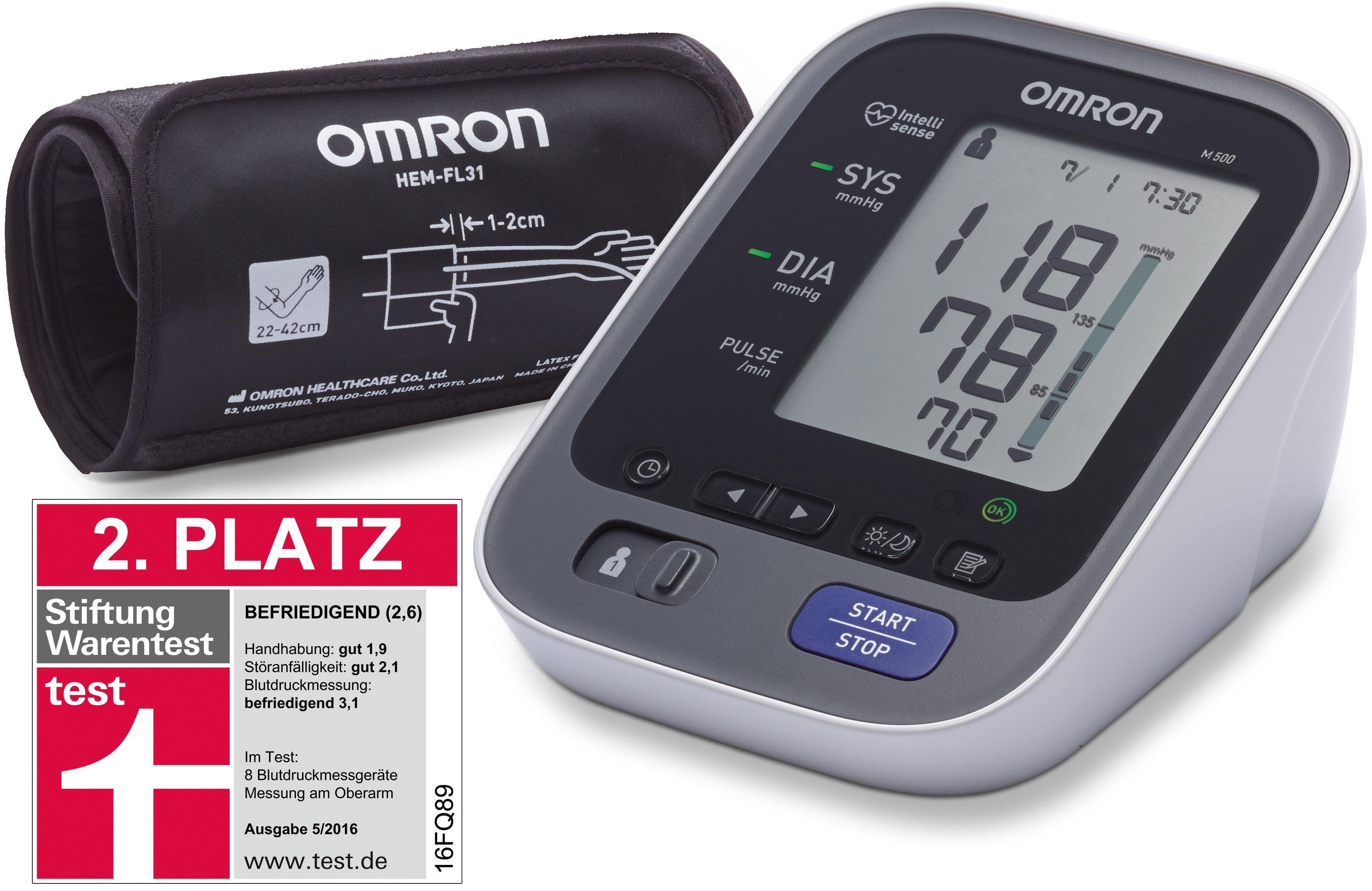 Omron Blutdruckmessgerät M500 (HEM-7321-D), vollautomatisches Oberarm-Blutdruckmessgerät