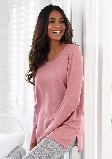 LASCANA Lounge Sweater mit Seitenschlitzen