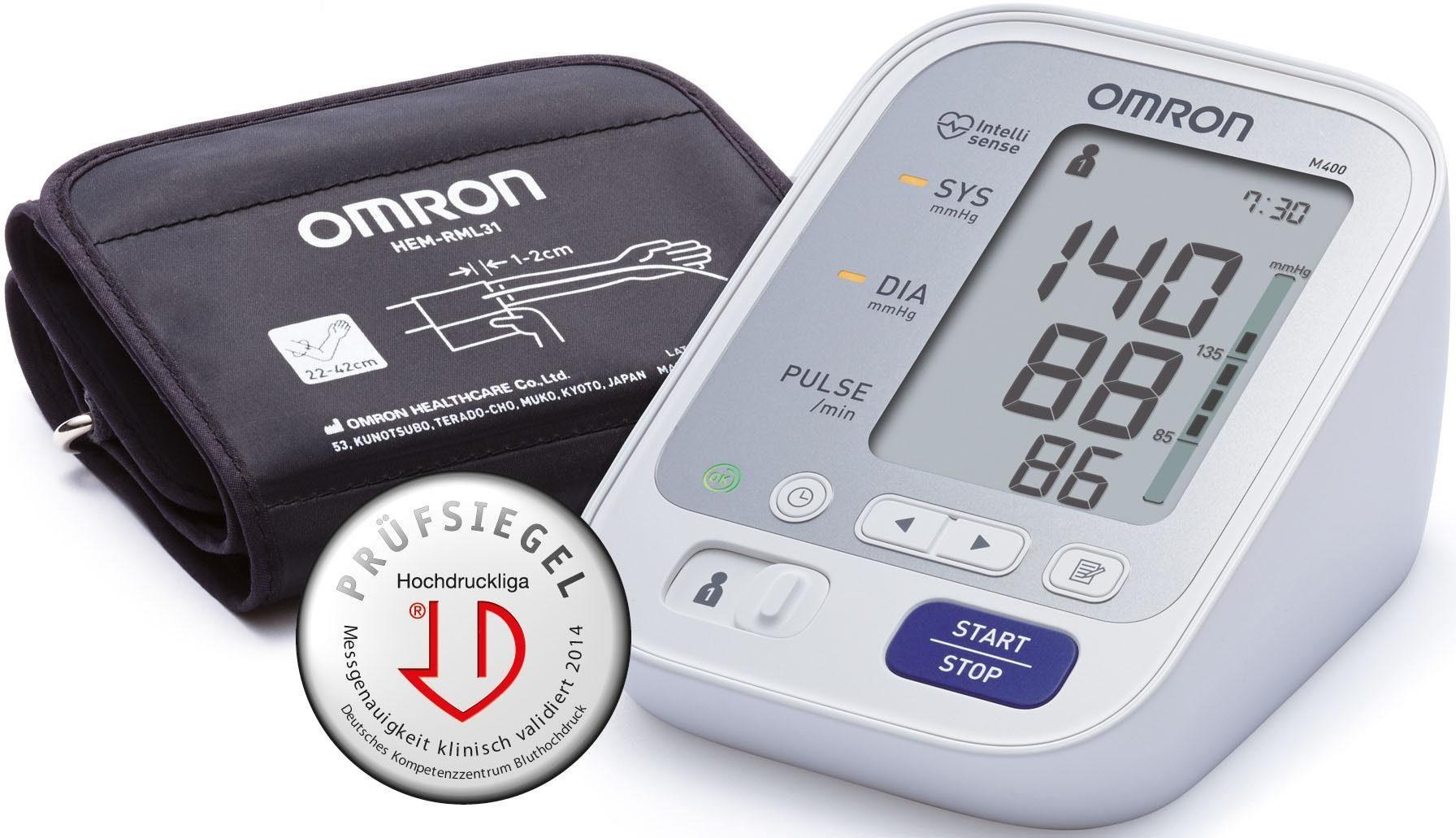 Omron Blutdruckmessgerät M400 (HEM-7131-D), vollautomatisches Oberarm Blutdruckmessgerät