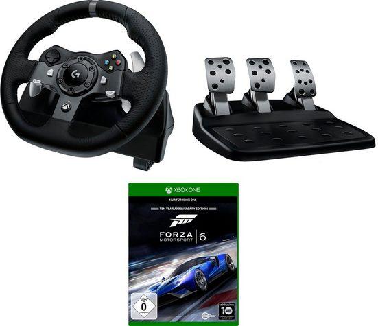 Logitech G »G920 Driving Force Racing Wheel USB - EMEA inkl. Forza Motorsport 6 Xbox One« Lenkrad (Set)