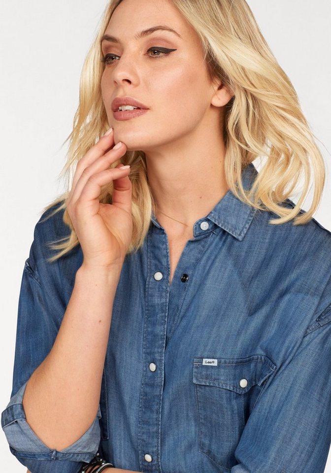Lee® Blusenkleid im Hemdenstyle aus Lyocell