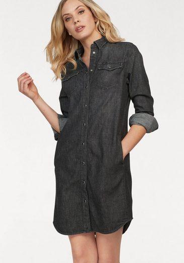 Lee® Blusenkleid im klassischem Denim-Style mit Knopfleiste