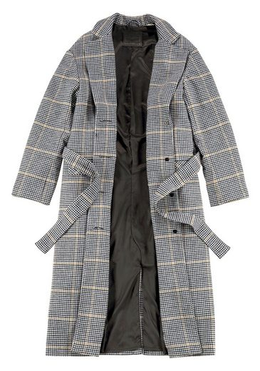 Angesagtem Levi's® tlg »frida Bindeband Coat« Glencheckmuster In 2 Mit packung Wollmantel zx6r4Xqz