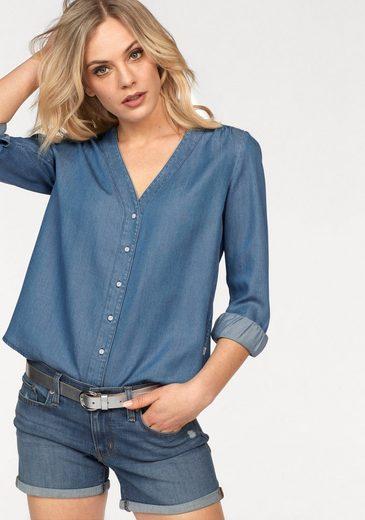 Levi's® Jeansbluse »Malika« Mit V-Ausschnitt ohne Kragen