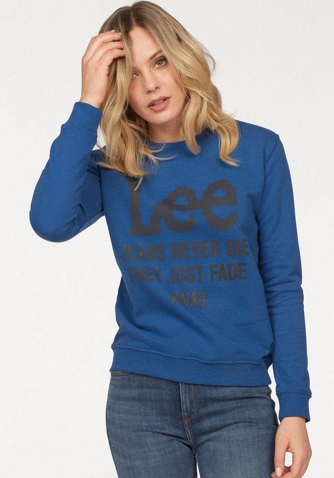 Lee® Sweatshirt mit großem Logo-Print