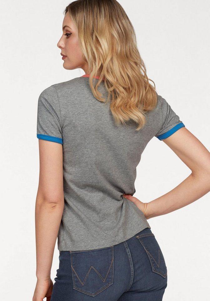 Wrangler T-Shirt »Retro Logo« mit buntem retro Logo