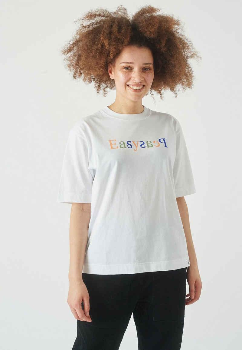 Cleptomanicx T-Shirt »Easy Peasy« im modischen Oversize-Schnitt