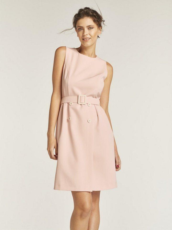 heine TIMELESS Kleid mit Taillengürtel, Figurbetonte Form ...