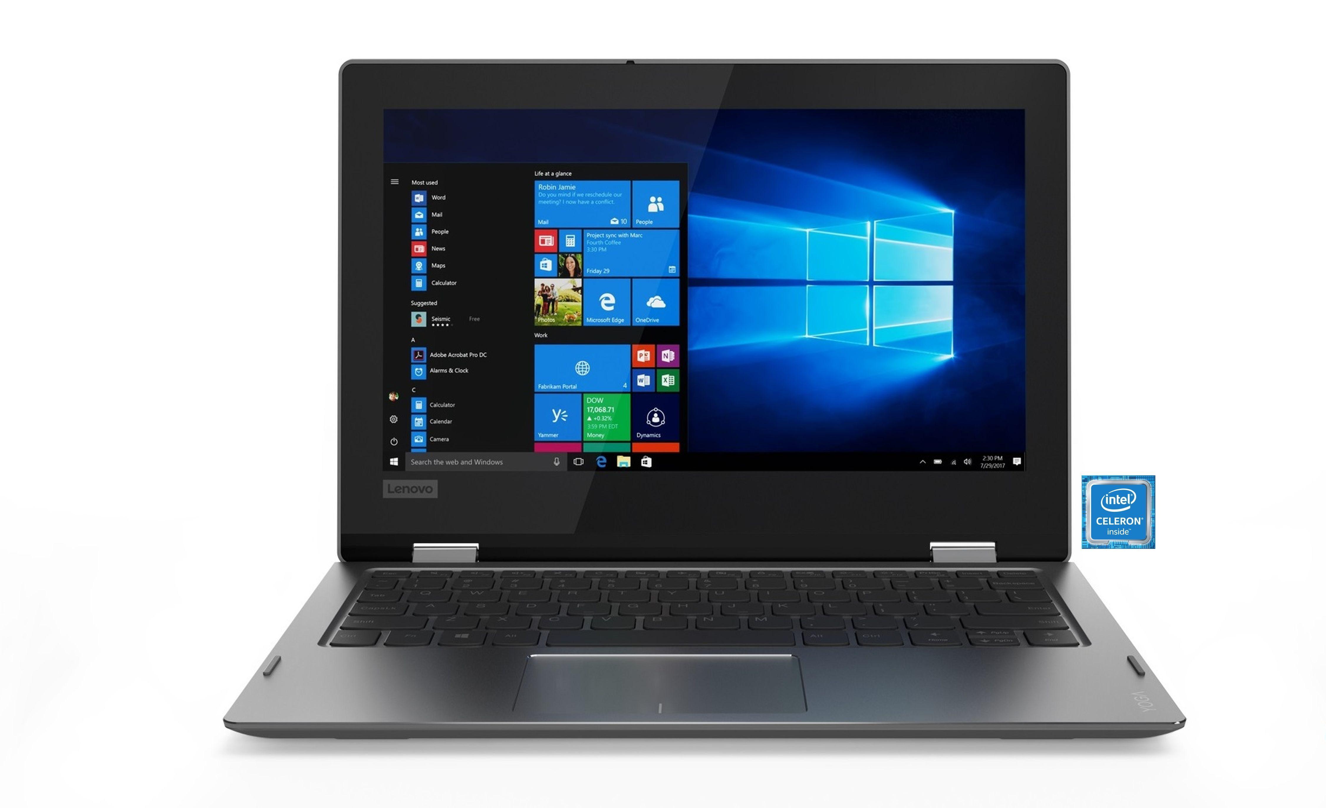 "LENOVO Yoga 330-11IGM Convertible »Intel Celeron, 29,5 cm (11,6""), 32 GB SSD, 2 GB«"