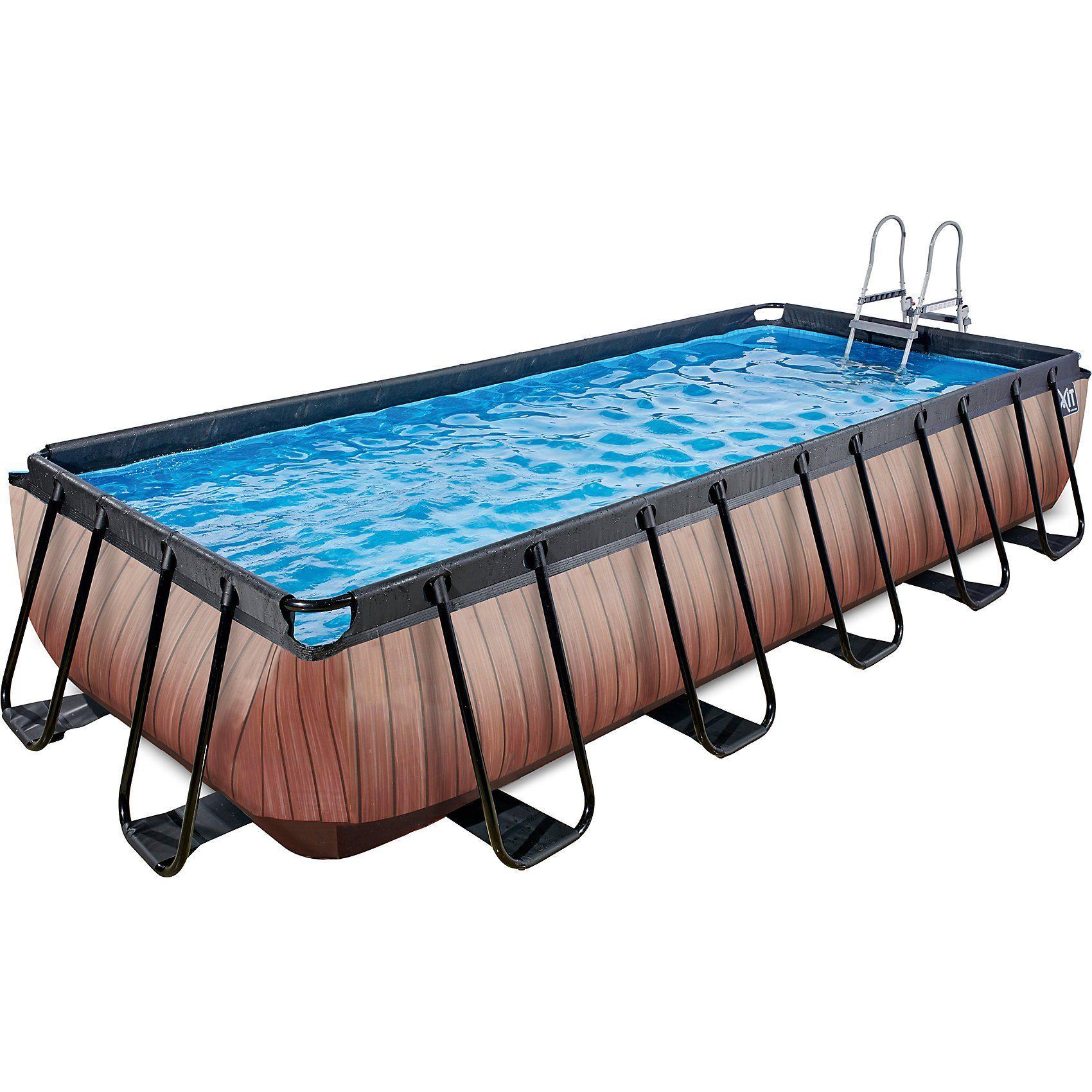 EXIT Frame Pool 5,4x2,5x1m Premium, Holz Optik