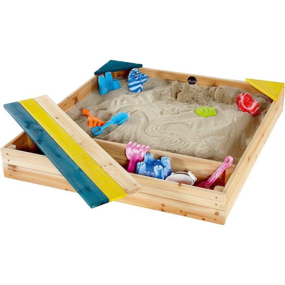 plum kinder sand spielzeug sandkasten mit aufbewahrungsbox. Black Bedroom Furniture Sets. Home Design Ideas
