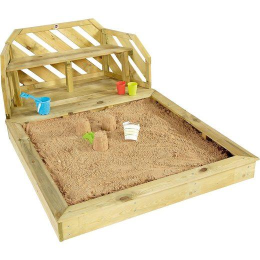 plum Sandkasten und Bank aus Holz