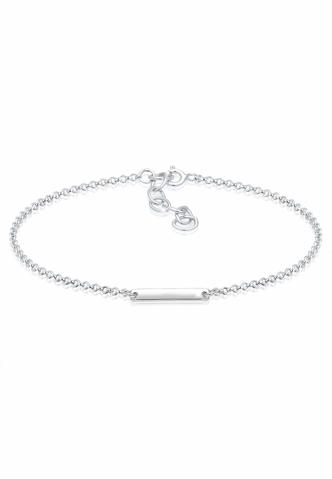Elli Armband »Geo Minimal Plättchen 925 Sterling Silber«