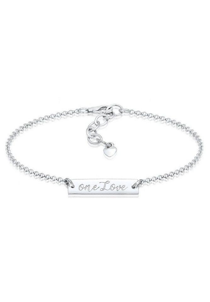 Elli Armband »One Love Wording Liebe Valentin 925 Silber« | Schmuck > Armbänder > Silberarmbänder | Elli