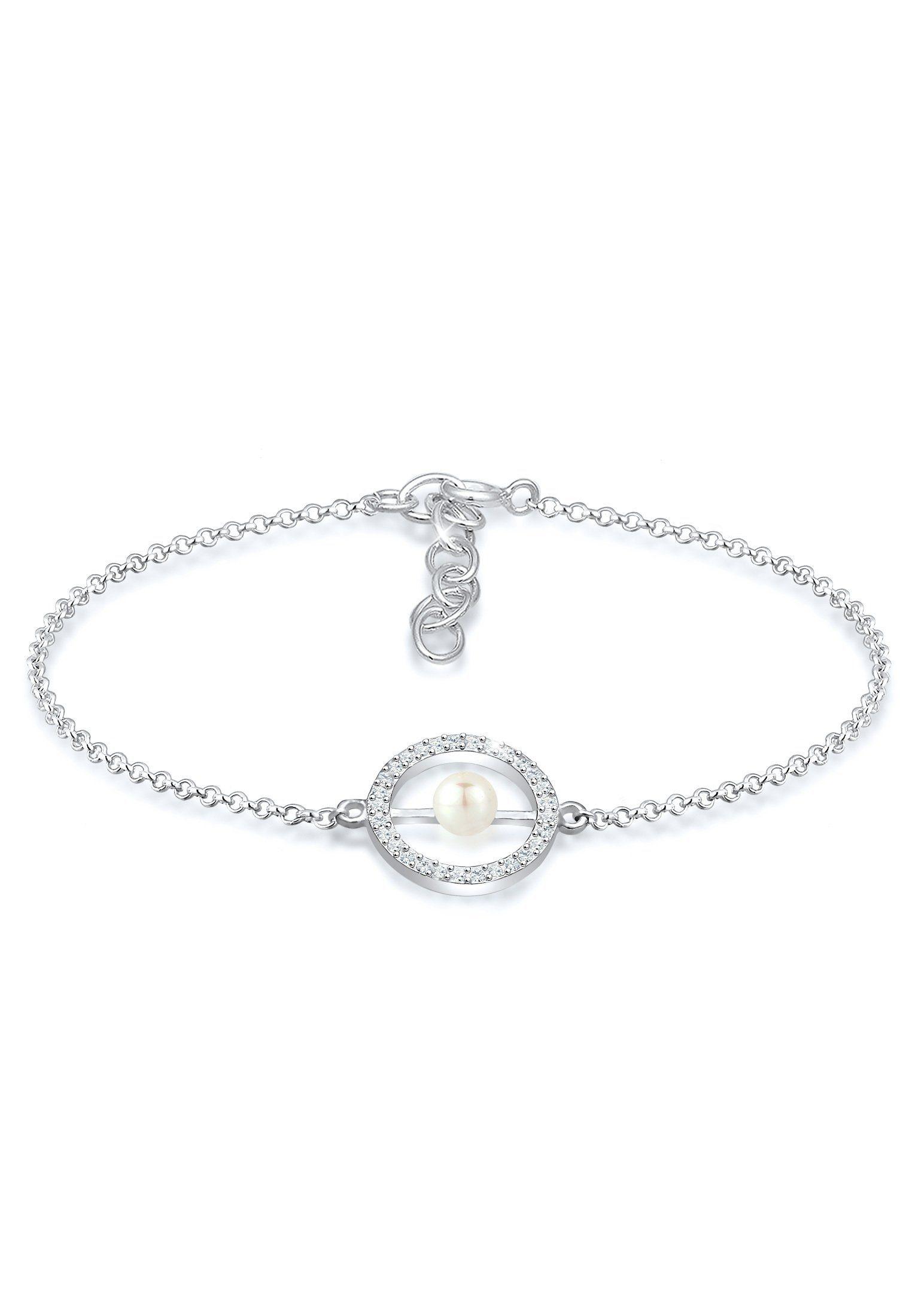 Elli Perlenarmband »Perle Geo Swarovski® Kristalle 925 Silber«