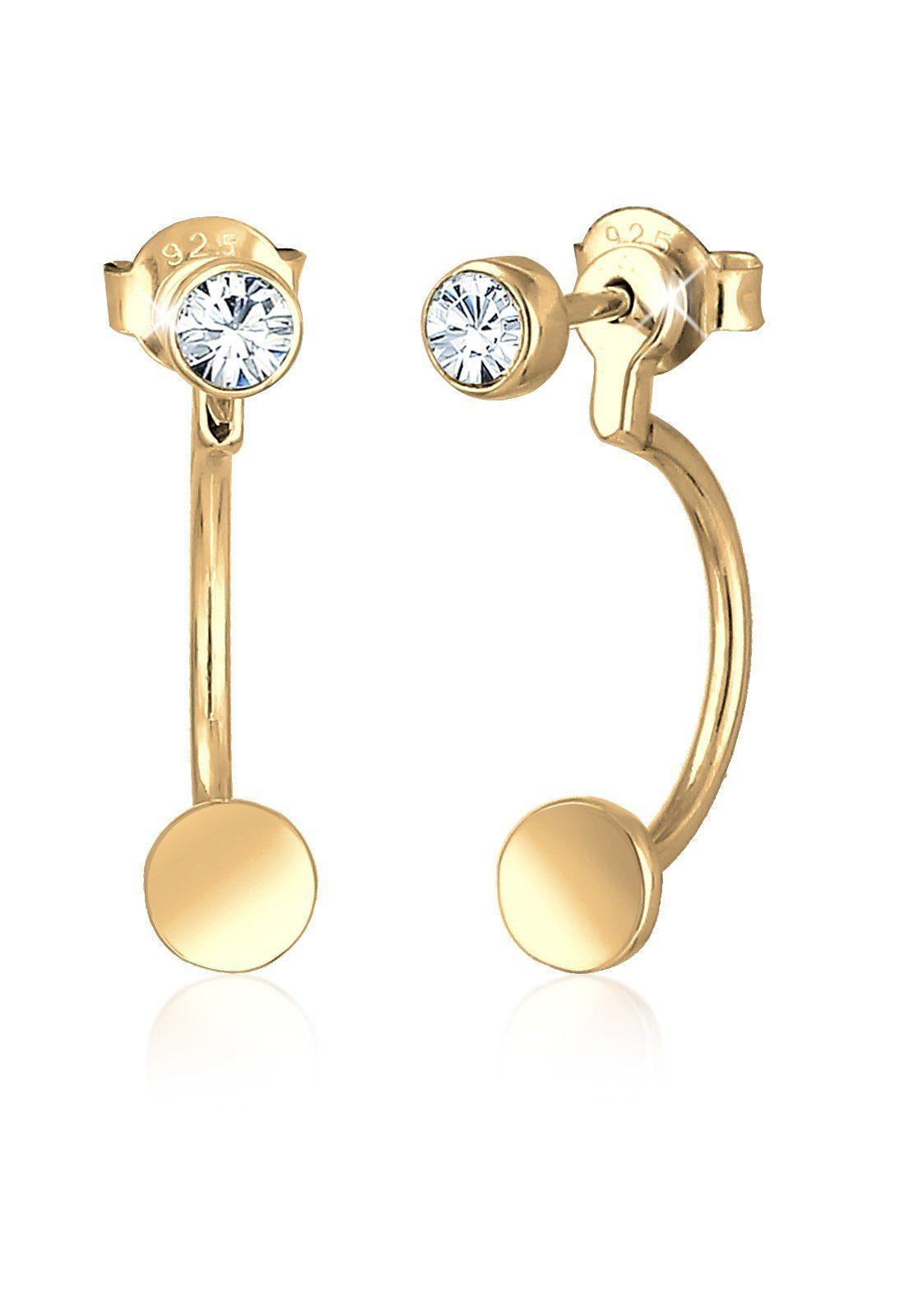 Elli Paar Ohrhänger »Ear Jacket Swarovski® Kristall 925 Sterling Silber«