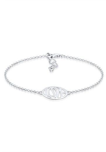 Elli Armband »Wordings Love-Schriftzug Liebe 925 Sterling Silber«